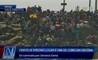 Caos en cerro San Cristóbal por peregrinaje de miles de fieles