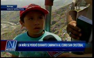 Semana Santa: niño se perdió en trayecto al cerro San Cristóbal