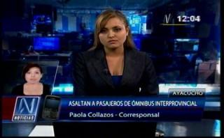 Semana Santa: ladrones asaltaron bus que iba rumbo a Ayacucho