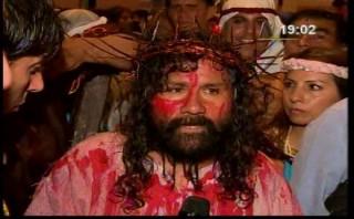 Suspendieron el vía crucis de Mario Valencia, el 'Cristo cholo'