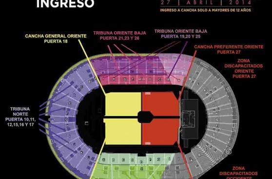 One direction lo que debes saber si vas al concierto de for Puerta 9 del estadio nacional de lima