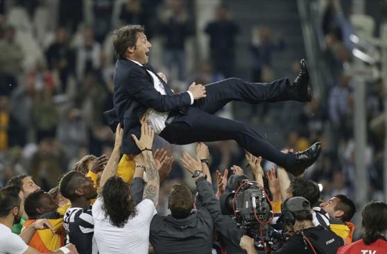La gran celebración de Juventus por el tricampeonato de Serie A