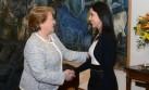 Michelle Bachelet recibió a Nadine Heredia en La Moneda
