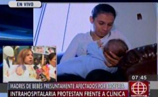 Madres de infectados en Clínica San Pablo marchan por su día