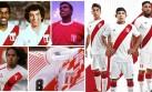 Camisetas de Perú desde 1970 al 2014 en una galería histórica