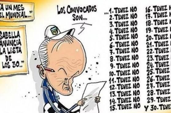 Carlos Tévez y los memes de su no convocatoria a Brasil 2014