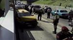 Vía del Metropolitano estuvo interrumpida por despiste de taxi - Noticias de mariano farias