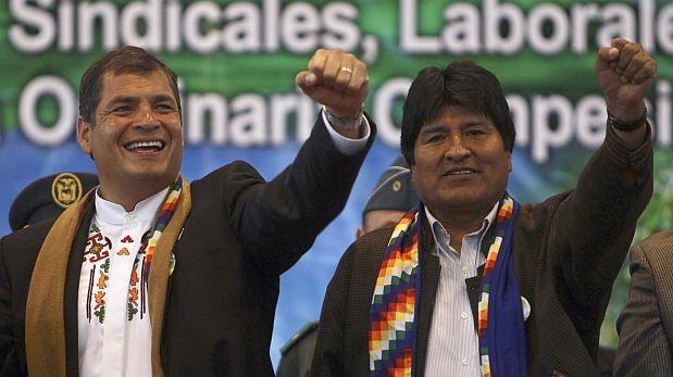 Rafael Correa aboga en Chile por salida al mar para Bolivia