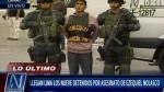 Nueve detenidos por crimen de Ezequiel Nolasco llegaron a Lima - Noticias de victor pereda