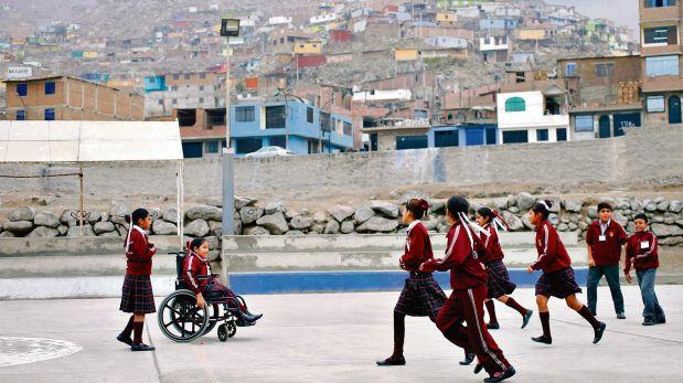 En el colegio San José Obrero hay 14 niños con discapacidades que buscan progresar. (Rolly Reyna / El Comercio).
