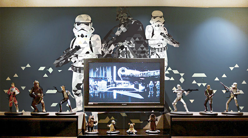 De otra galaxia a ade detalles de star wars en tu for Decoracion de cuarto star wars