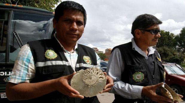 Chilena e irlandesa intervenidas con moluscos fosilizados