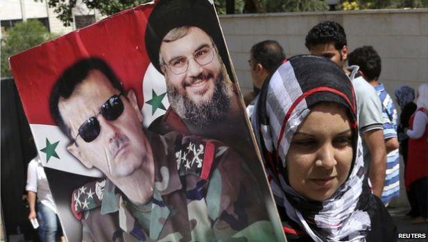 Los afiches que muestran a Asad junto al líder de Hezbolá, Hassan Nasrallah, son cada vez más populares. (Foto: Reuters)