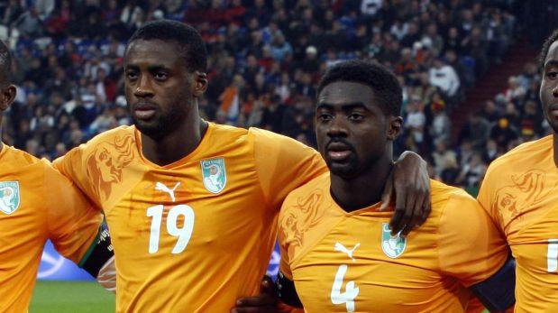 Kolo y Yaya Touré jugarán juntos su segundo Mundial con la selección de Costa de Marfil. (Foto: AP)