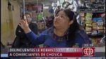 Chosica: delincuentes robaron S/.150 mil a comerciantes - Noticias de julio camarena