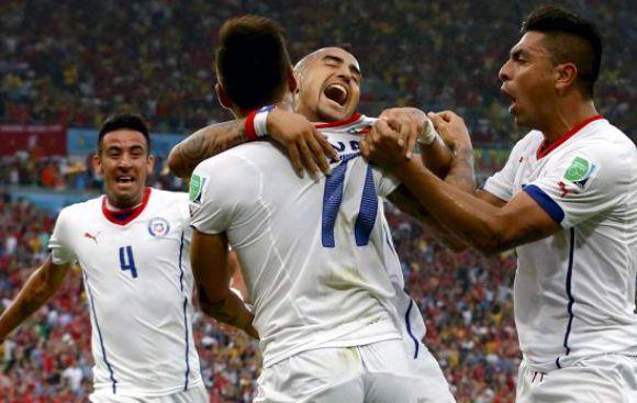 Chile eliminó a España del Mundial tras ganarle 2-0 en Maracaná