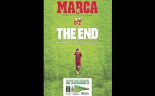 """""""Lamentable final de una época gloriosa"""", la portada de """"Marca"""""""