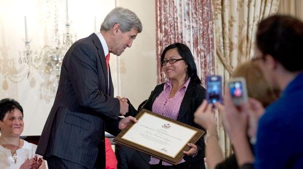 Peruana víctima de trata de personas fue homenajeada por EE.UU.