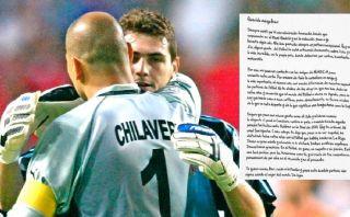 """Carta de Chilavert a Casillas: """"Deberían hacerte un monumento"""""""