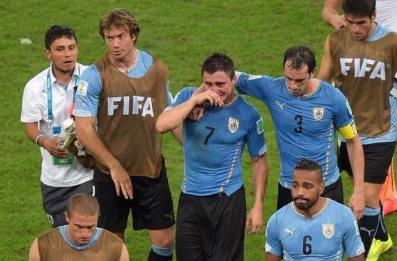 Las caras de dolor en Uruguay luego de ser eliminados de Brasil