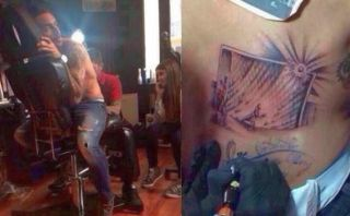 Mauricio Pinilla se tatúa su remate al palo contra Brasil