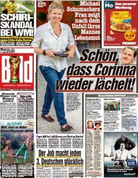 Portada de la edición de ayer, lunes 7 de julio, del diario alemán Bild.