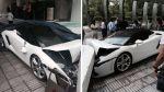 Empleado de hotel estrelló un Lamborghini en la India [VIDEO] - Noticias de lamborghini gallardo