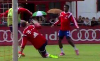 El golazo de Lewandowski en el entrenamiento de Bayern Múnich