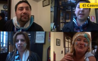 Pena argentina: así vivieron la final los albicelestes en Lima