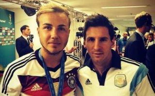 Mario Götze le pidió una fotografía a Messi tras la final