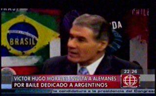"Víctor Hugo Morales llamó ""nazis asquerosos"" a alemanes"