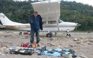 Satipo: incautaron avioneta boliviana y armamento