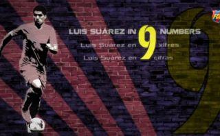 Luis Suárez: Barcelona compartió '9' cifras de su trayectoria