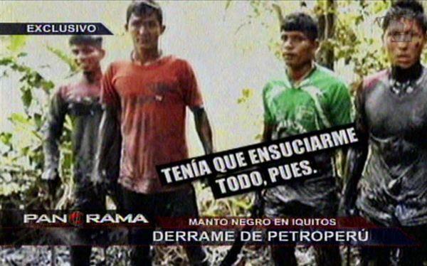 Menores habrían trabajado para Petro-Perú recogiendo petróleo
