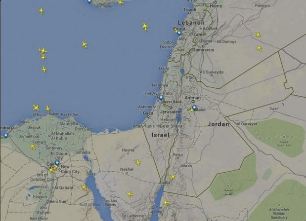 El mapa de Flight Radar 24 (Foto: Twitter)
