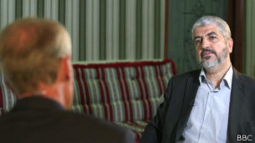 Khaled Meshaal en conversación con el programa HARDTalk de la BBC.
