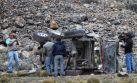 Huanta: 4 muertos y 17 heridos deja caída de combi a abismo