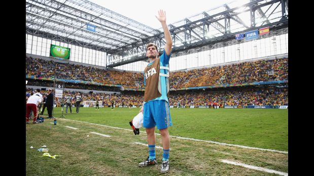 Iker Casillas durante el Mundial Brasil 2014 (Foto: Getty Images)