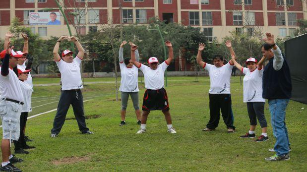 Algunos deportistas de la Asociación Nacional de Pacientes en Diálisis y Trasplante.