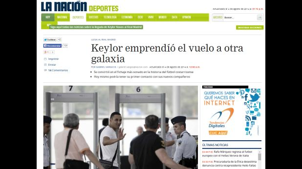 Diario La Nación de Costa Rica (Fuente: www.nacion.com)