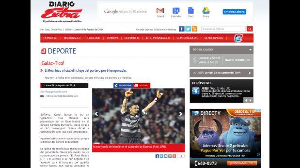 Diario Extra de Costa Rica (Fuente: diarioextra.com)
