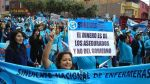 Enfermeras retomaron sus labores después de 54 días de huelga - Noticias de huelga de enfermeras