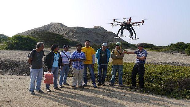 Fotografían con drones la impresionante ciudadela de Chan Chan