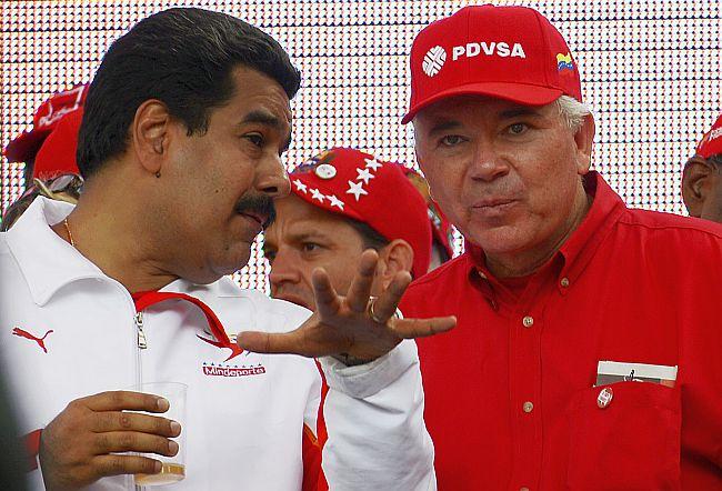 Rafael Ramírez junto al presidente Venezolano Nicolás Maduro.