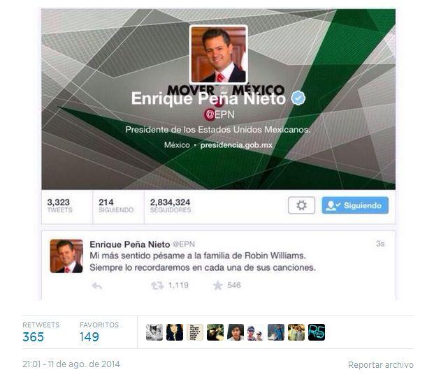 [Foto] ¿Peña Nieto confundió a Robin Williams con cantante inglés?