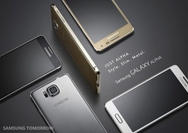 Samsung presentó el Galaxy Alpha, su primer smartphone de metal