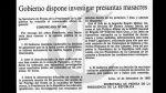 Matanza de Accomarca: así informó El Comercio hace 29 años - Noticias de armamento