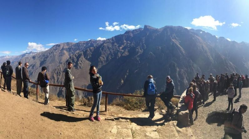 Arline Pinco Carbajal se tomó esta foto el 9 de agosto del 2014 en el mirador del Cóndor, en el cañón del Colca.