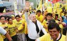 """Luis Castañeda continúa campaña: """"Le doy la cara a la gente"""""""