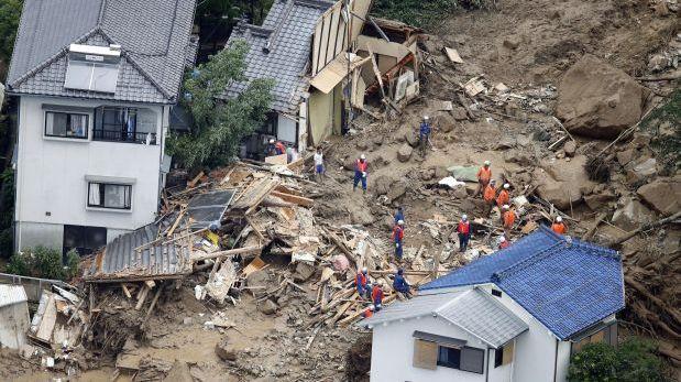 Japón: Mueren 18 en Hiroshima por las lluvias torrenciales